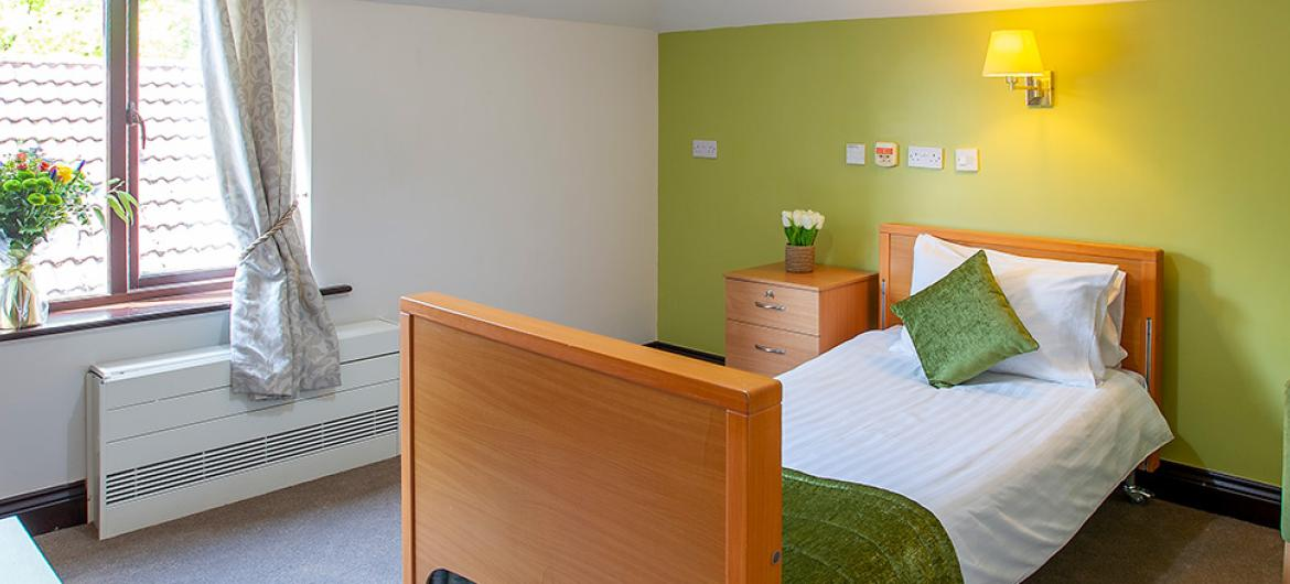 A bedroom at Nunthorpe Oaks Residential Care Home in Middlesbrough