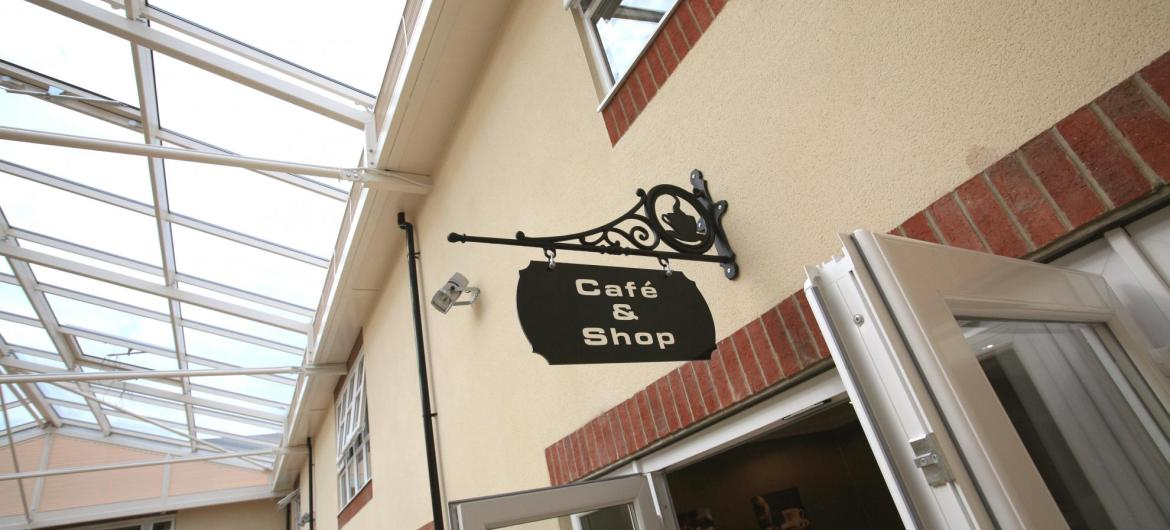 The shop and cafe at Park View Residential Care Home.
