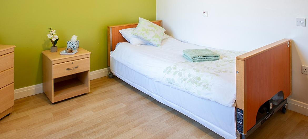 An example Bedroom at Pavillion Residential and Nursing Home in Durham