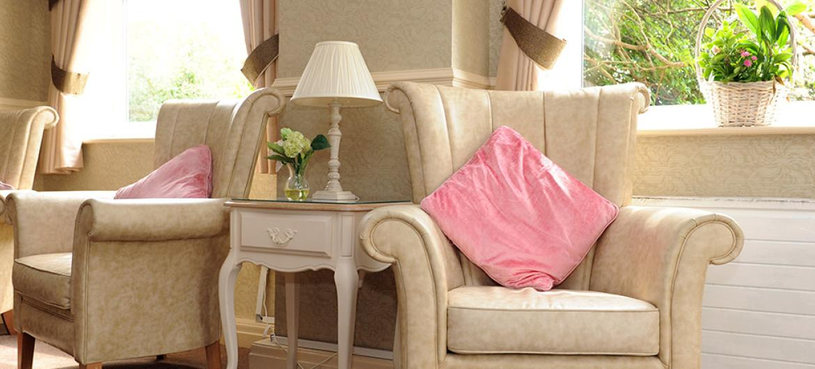 Living area at Prince Alfred Residential Care Home in Liverpool