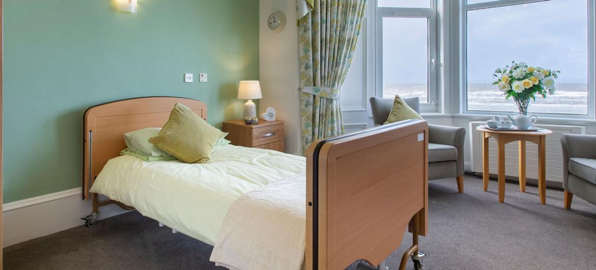 Queens care home example bedroom