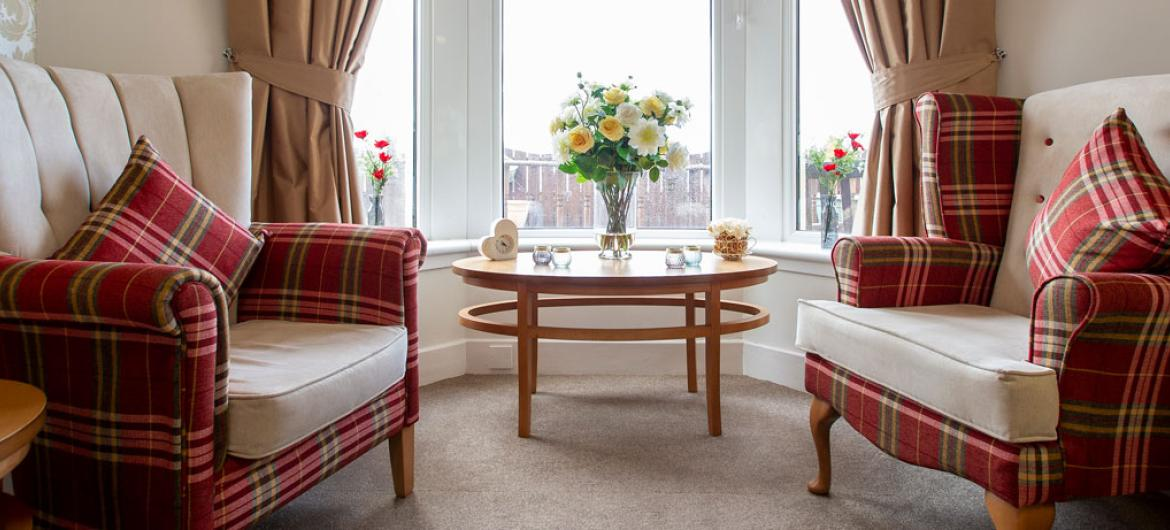 Queens care home shared lounge