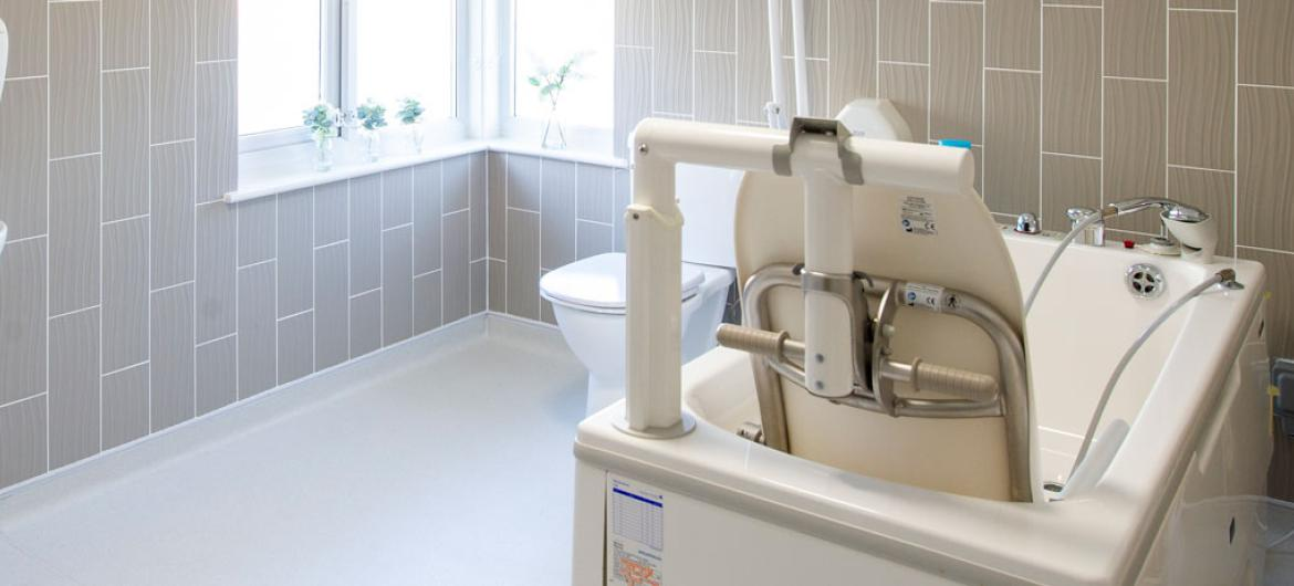 Specialised bathroom at Queens care home