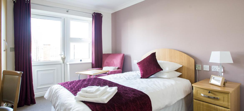 Example bedroom at Ridgewood Court