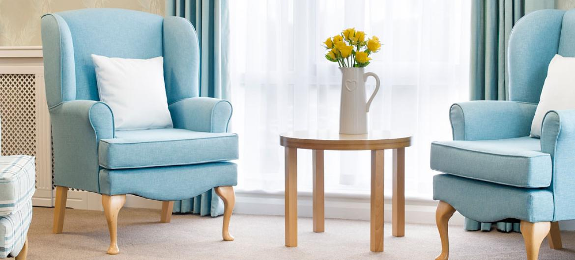 The lounge at Rowanweald Residential and Nursing Home