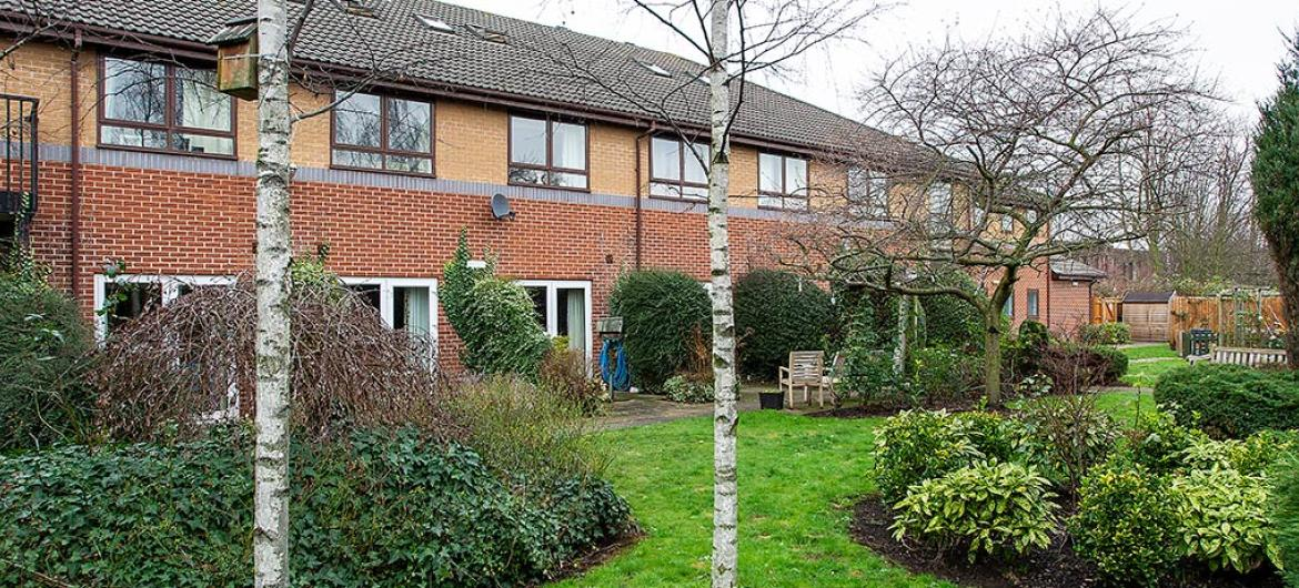 Rear Gardens at The Park Residential and Nursing Home in Derby