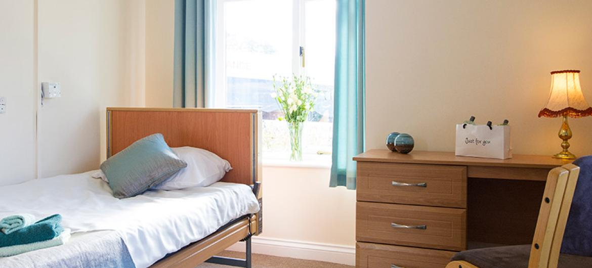 A typical bedroom at The Rosary Nursing Home