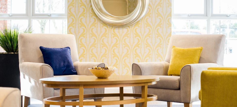 Upton Dene care home lounge