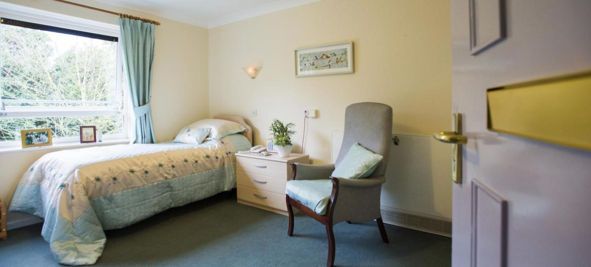 A cosy bedroom in the Westmead Residential Care Home.