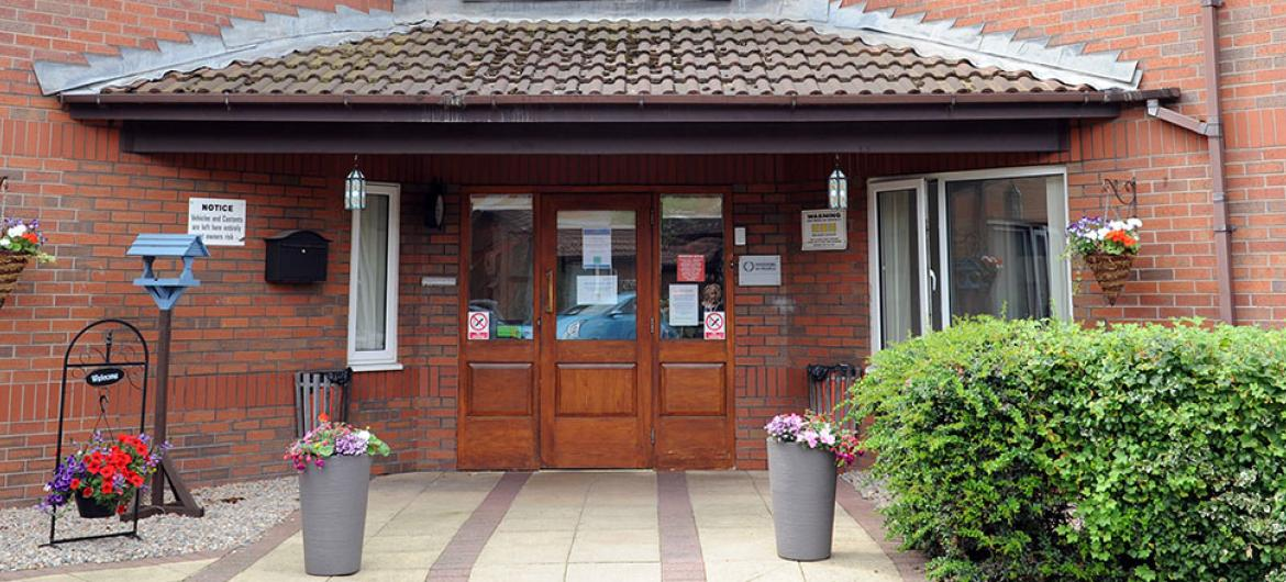 Front entrance at Willow Gardens Residential and Nursing Home in Merseyside