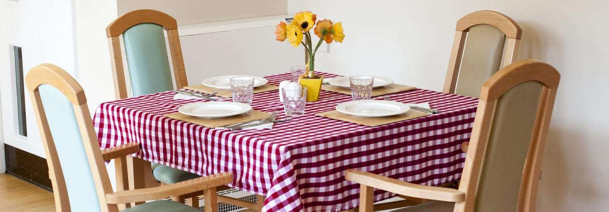 The dining room at Orchard House Residential Care Home.