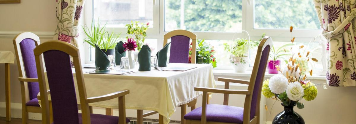 Dining Room at Ashgreen House Residential and Nursing Home
