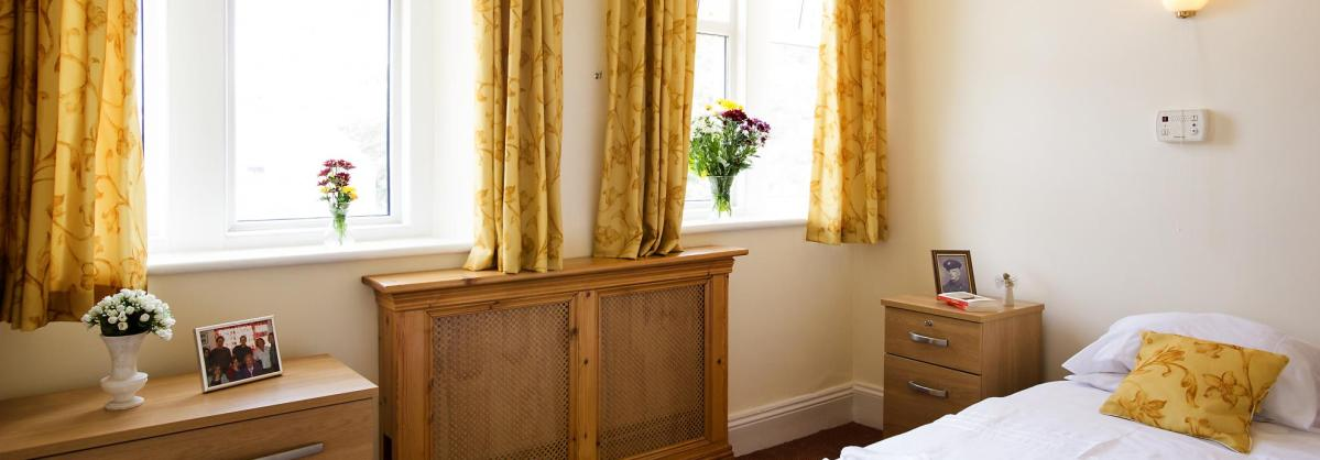 A typical bedroom at Beach Lawns Residential and Nursing Home