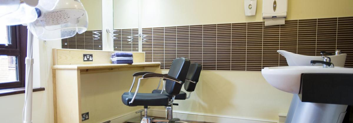 hairdressers at Beechwood Residential Care Home
