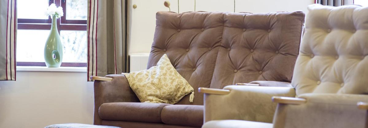 Lounge at Broadmeadow Court Residential Care Home