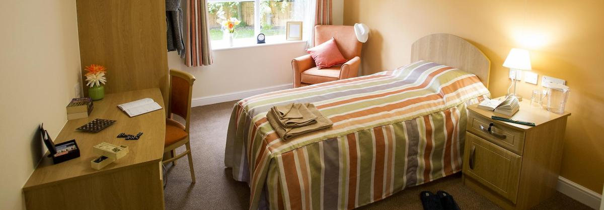 bedroom at Castlecroft Residential Care Home