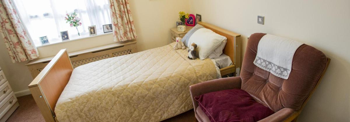 Bedroom at Chadwell House Residential Care Home