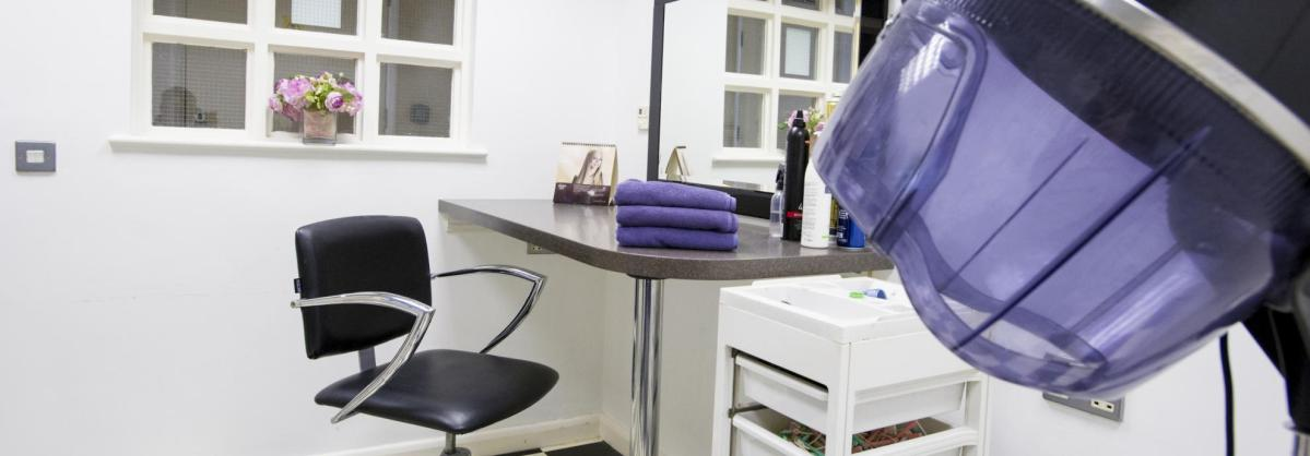 Hair salon at Chadwell House Residential Care Home