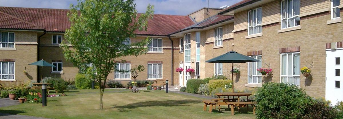 Outside at Chadwell House Residential Care Home
