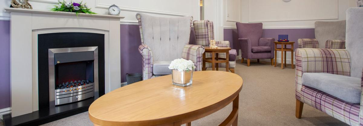 Abercorn House care home shared lounge