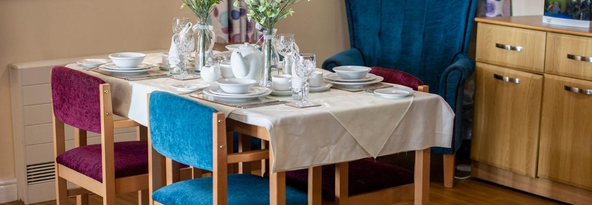 Allanbank care home dining area