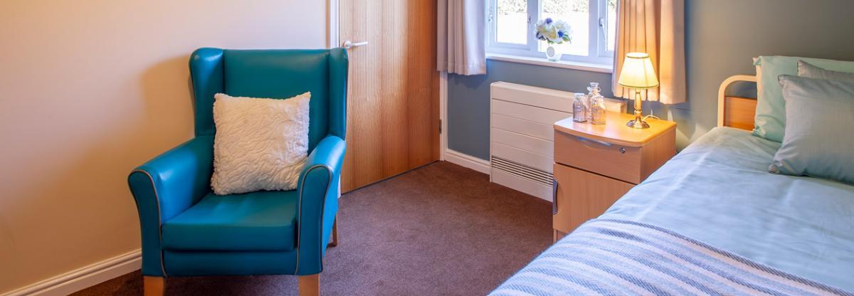 Allanbank care home example bedroom