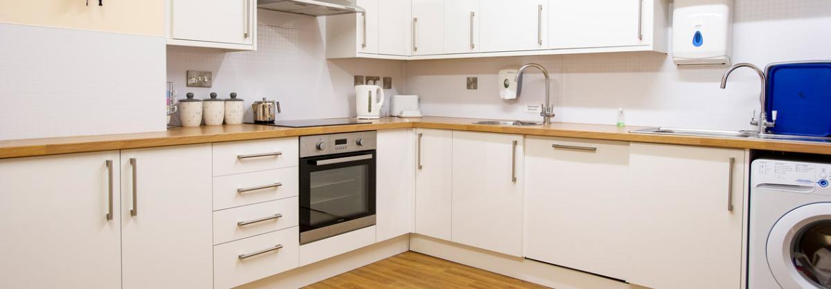 Allanbank care home kitchen area