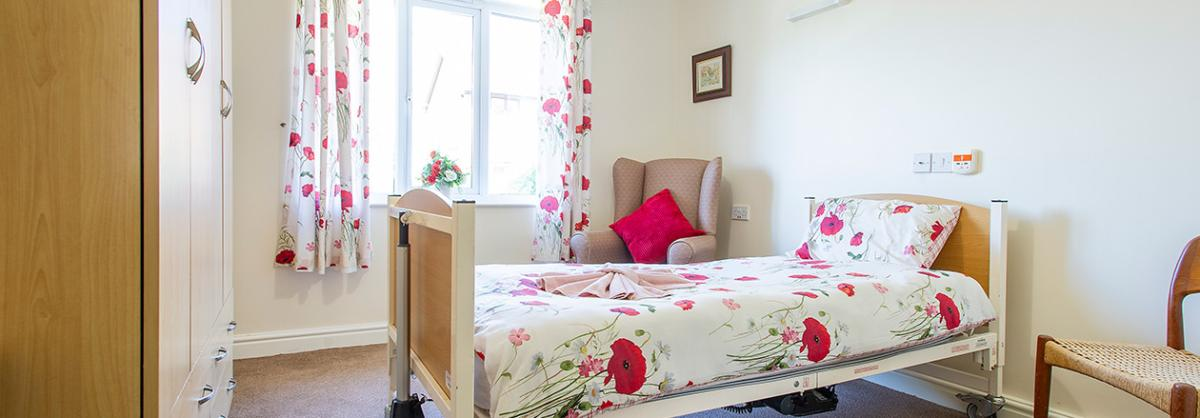 One of the Bedrooms at Ashwood Park Residential and Nursing Home in Durham