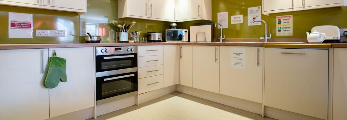 Birch House care home kitchen