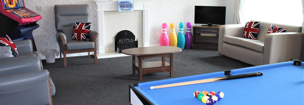 Games room at Birchwood Court