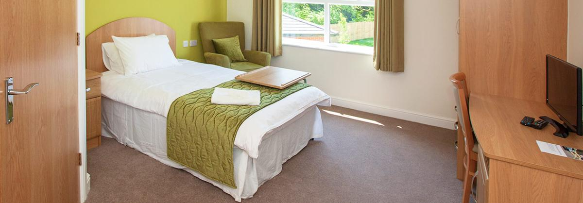 Comfortable and spacious bedrooms at Briggs Lodge Residential and Nursing Home in Wiltshire