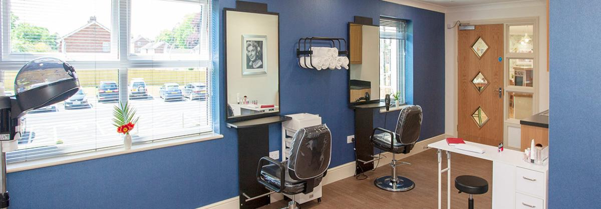 Hairdressing Salon at Briggs Lodge Residential and Nursing Home in Wiltshire