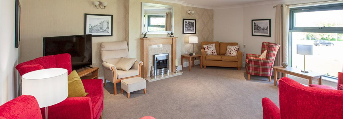 One of the comfy lounge areas at Briggs Lodge Residential and Nursing Home in Wiltshire