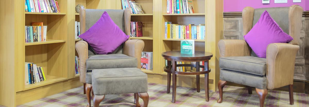 Briggs Lodge reading area