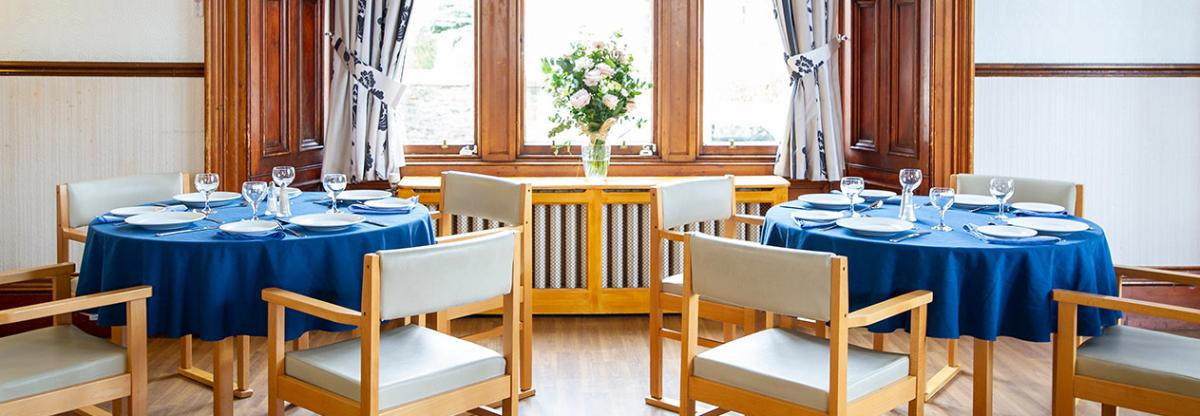Dining area at Camilla House in Edinburgh