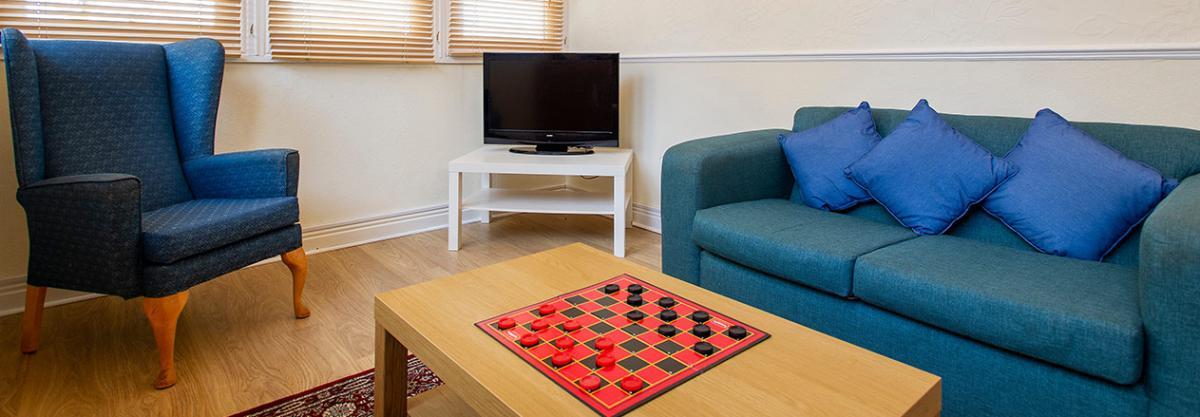 Lounge area at Camilla House in Edinburgh