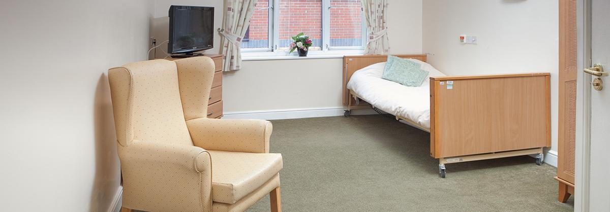 Bedroom at Cedar Court Residential and Nursing Home in Durham