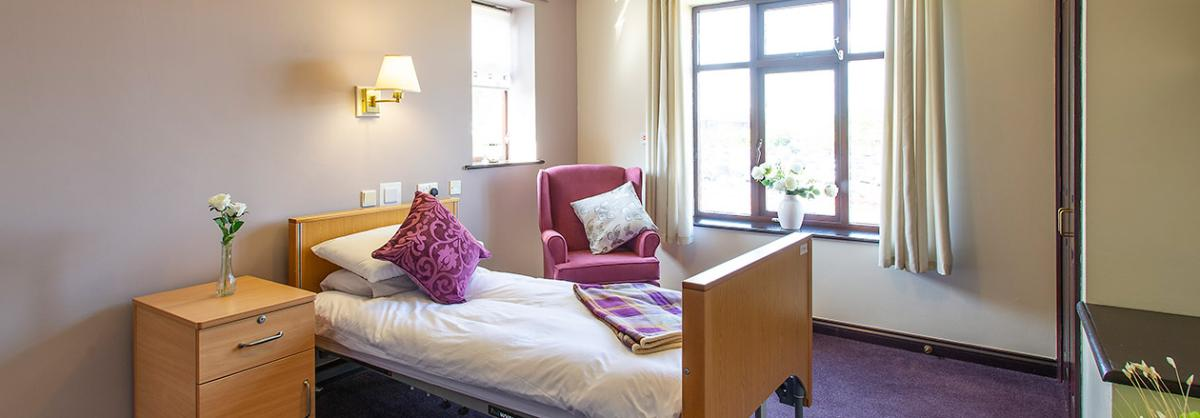 Another spacious and airy bedroom at Dalby Court Residential Care Home in Middlesbrough