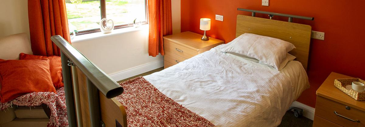 Bedroom at Dovecote Residential and Nursing Home in Durham