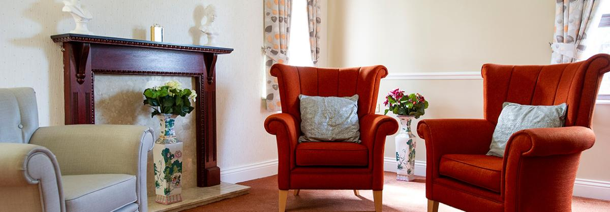 Living area at Dovecote Residential and Nursing Home in Durham