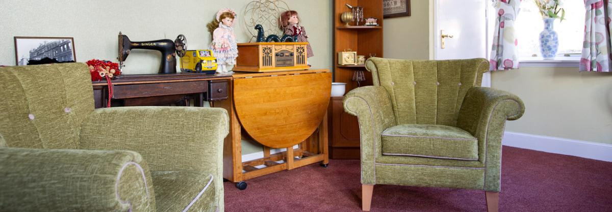 Example lounge at Forefaulds care home