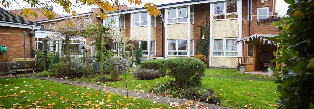 The front garden and entrance to the Westmead Residential Care Home.
