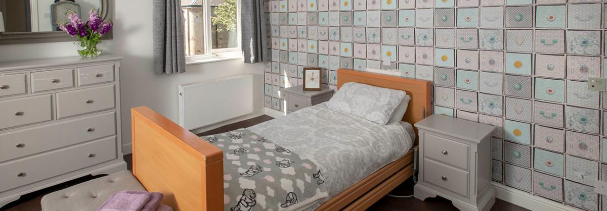 Example bedroom at Millport Care Centre in Ayrshire