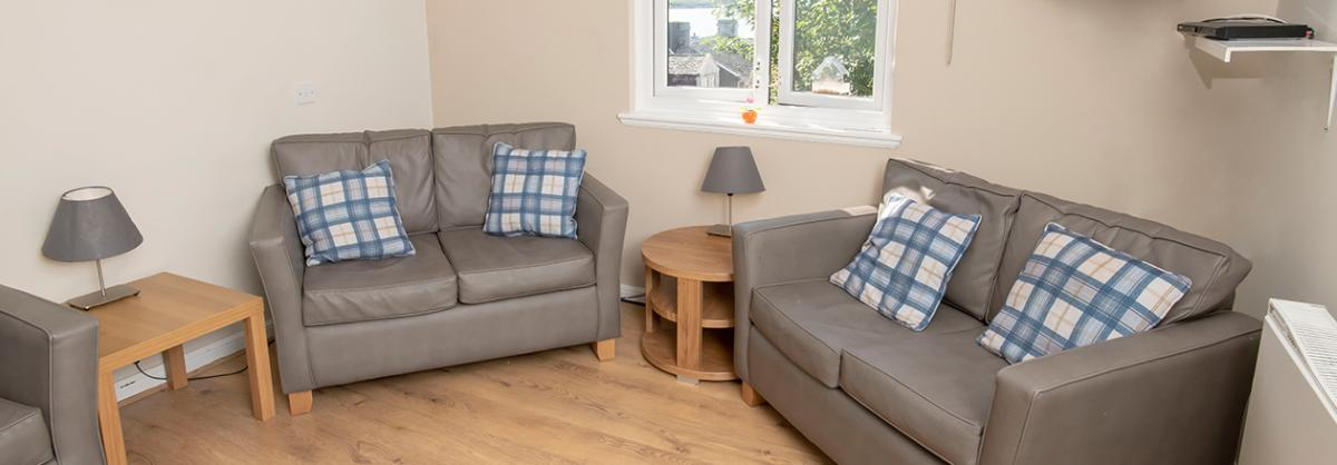 Living area at Millport Care Centre in Ayrshire