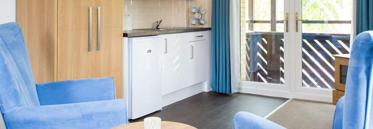 A typical kitchen at Shaftesbury Court Residential Care Home
