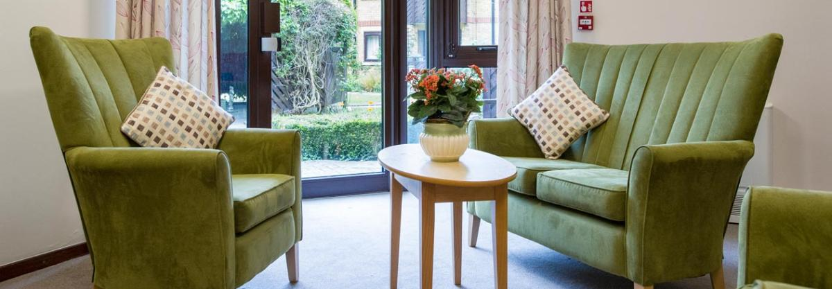 The Shaftesbury Court Residential Care Home lounge