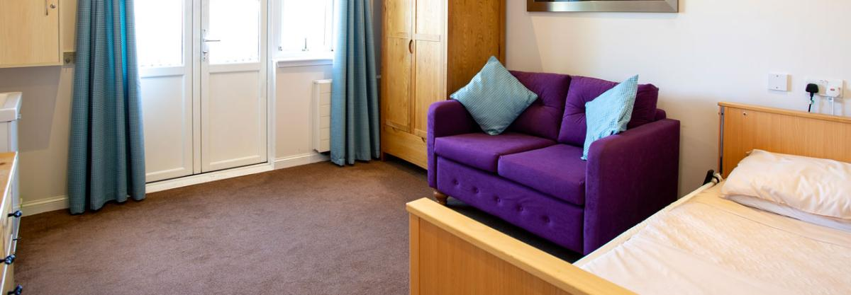 Park Lodge care home example bedroom