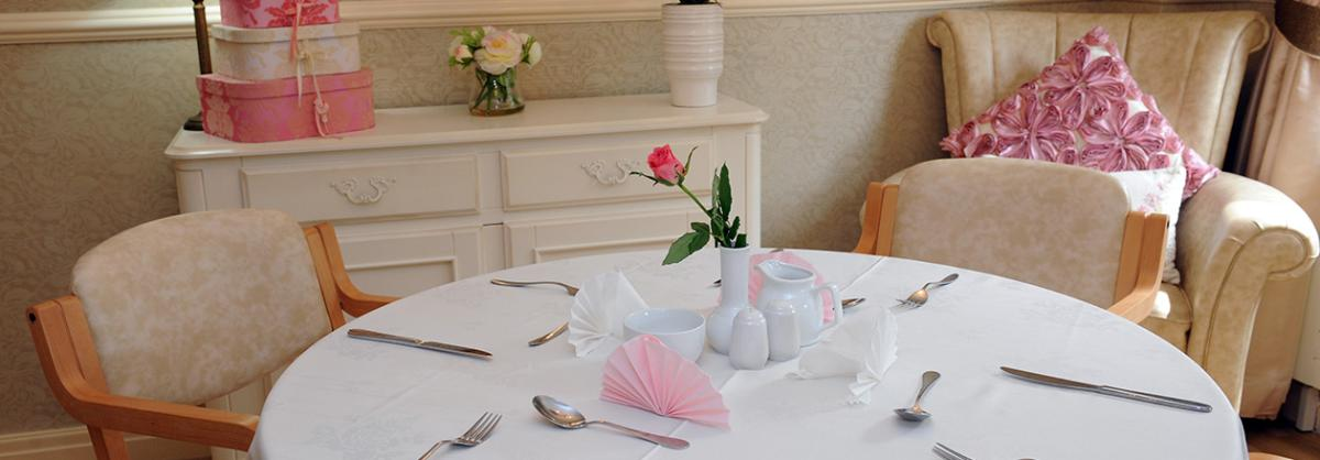 Dining area at Prince Alfred Residential Care Home in Liverpool