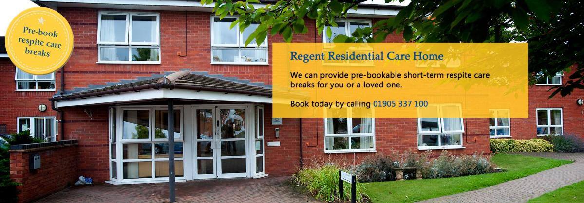 Regent Residential Care Home - Respite Campaign Banner