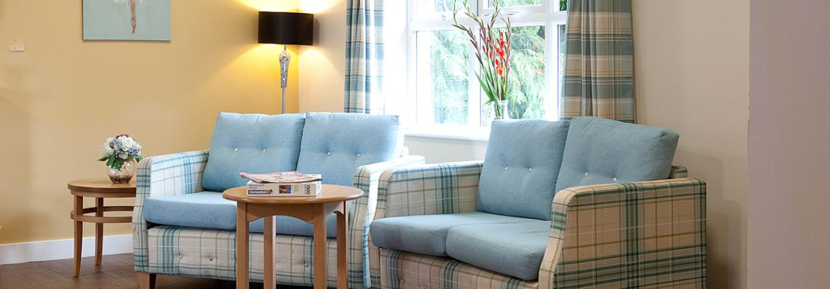 Lounge area at Rushyfields Residential and Nursing Home in Durham